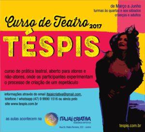 Curso de Teatro da Téspis @ Itajaí Criativa - residência artística   Santa Catarina   Brasil