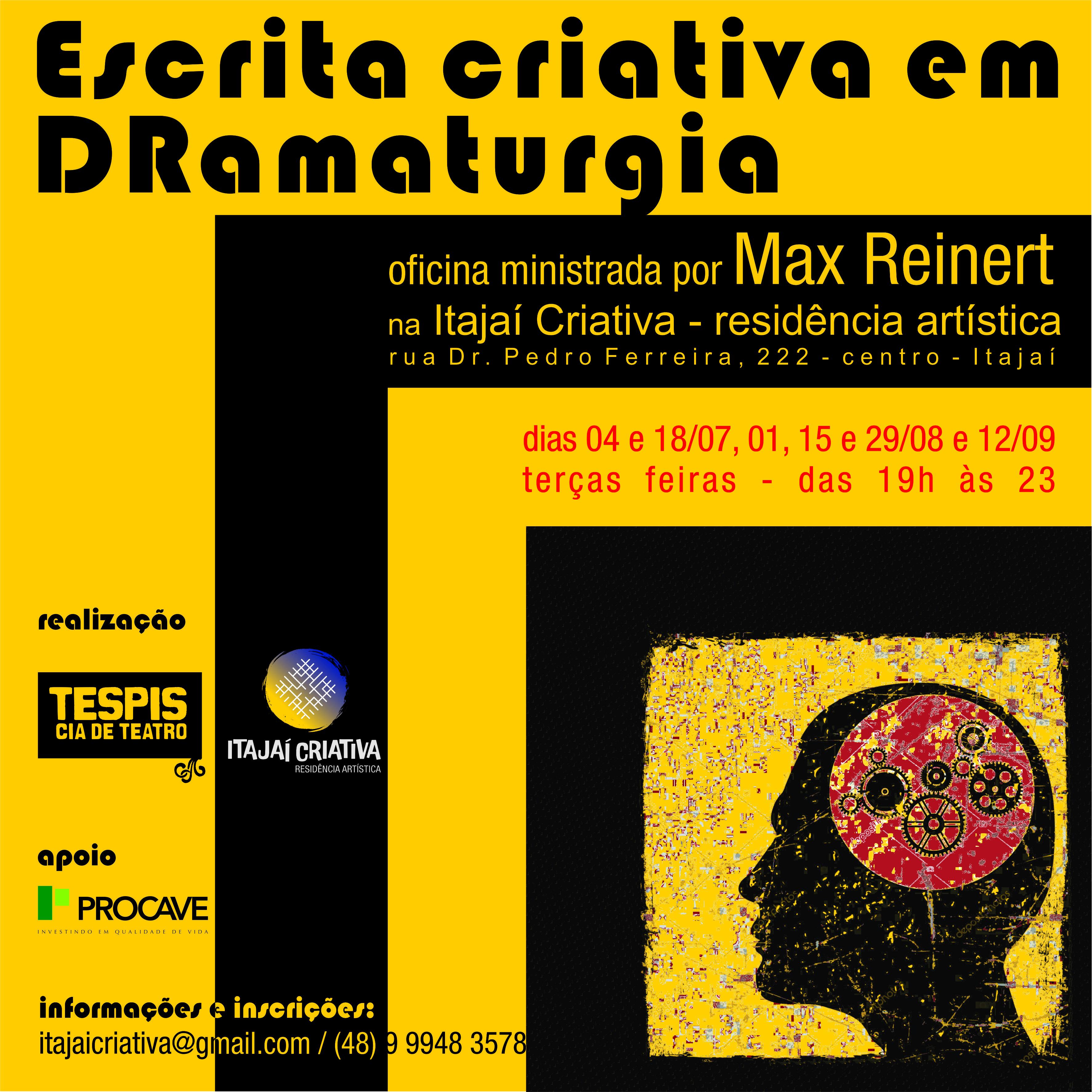 Oficina Escrita Criativa em Dramaturgia @ Itajaí Criativa - residência artística | Santa Catarina | Brasil