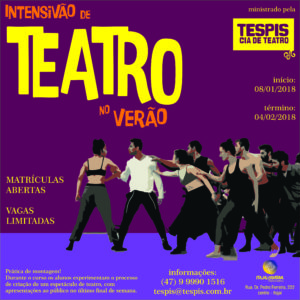 Curso de Teatro Intensivo de Verão @ Itajaí Criativa - residência artística   Santa Catarina   Brasil